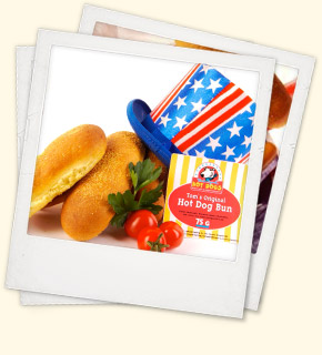 Tom's Original Hot Dogs und Uncle Sam Zylinder